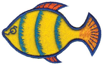 "Embroidery Design: Yellow Fish Applique3.64"" x 2.42"""