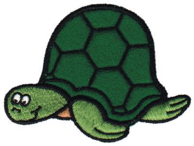 """Embroidery Design: Sea Turtle Applique3.61"""" x 2.88"""""""