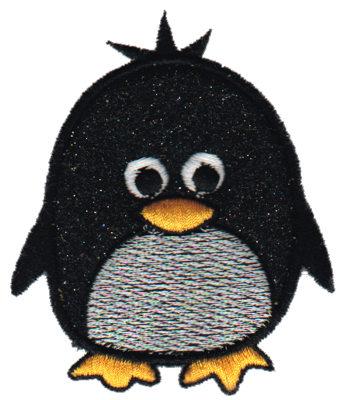 "Embroidery Design: Penguin Applique2.84"" x 3.39"""
