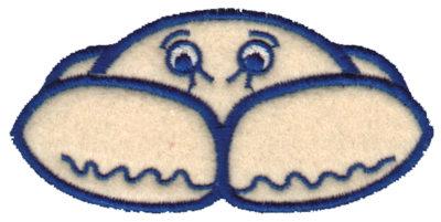 "Embroidery Design: Crab Applique3.71"" x 2.09"""