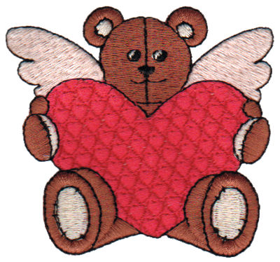 "Embroidery Design: Bear with Heart3.04"" x 2.82"""