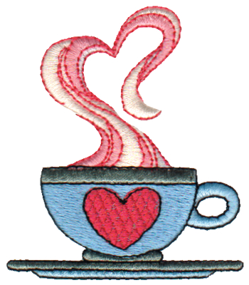 "Embroidery Design: Cup of Love2.59"" x 3.00"""
