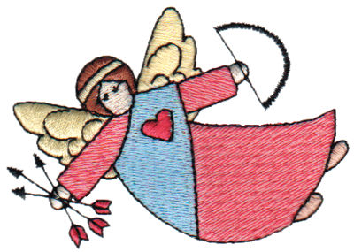 "Embroidery Design: Angel of Love3.13"" x 2.19"""