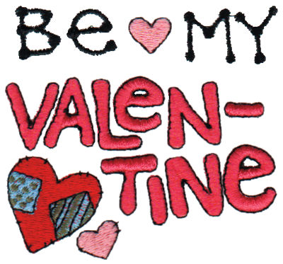 "Embroidery Design: Be My Valentine3.08"" x 2.87"""