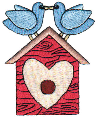 """Embroidery Design: Lovely Birdhouse2.47"""" x 2.97"""""""