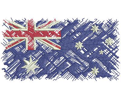 Embroidery Design: Aussie Flag Lg 5.00w X 2.66h