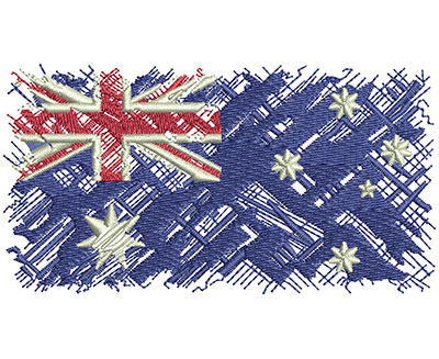 Embroidery Design: Aussie Flag Med 3.96w X 2.11h