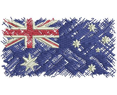 Embroidery Design: Aussie Flag Sm 3.00w X 1.60h