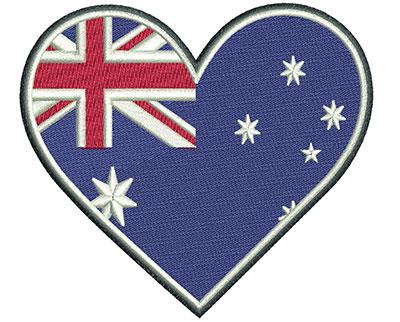 Embroidery Design: Aussie Heart Med 4.05w X 3.61h