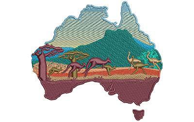 Embroidery Design: Australia Outback Sm 4.02w X 3.65h