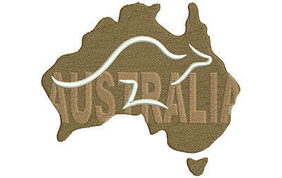 Embroidery Design: Australian Logo Lg 5.01w X 4.37h