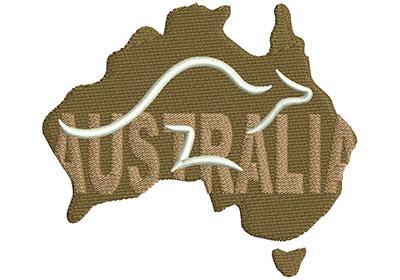 Embroidery Design: Australian Logo Med 4.02w X 3.50h