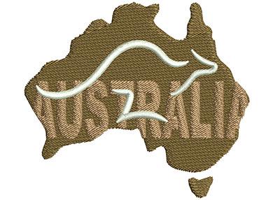 Embroidery Design: Australian Logo Sm 3.01w X 2.62h