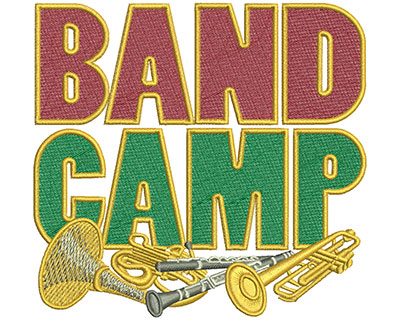 Embroidery Design: Band Camp March Lg 4.53w X 4.28h