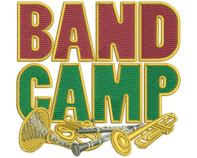 Embroidery Design: Band Camp March Sm 3.53w X 3.34h