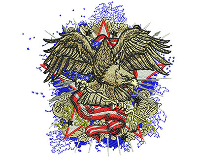 Embroidery Design: American Eagle Fashion Lg 5.51w X 5.62h