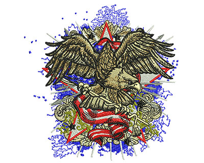 Embroidery Design: American Eagle Fashion Med 4.46w X 4.55h