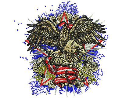 Embroidery Design: American Eagle Fashion Sm 3.51w X 3.58h