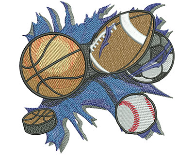 Embroidery Design: All Sports Lg 5.00w X 4.92h
