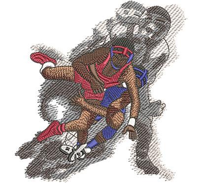 Embroidery Design: Wrestling Vertigo Lg 4.75w X 4.97h