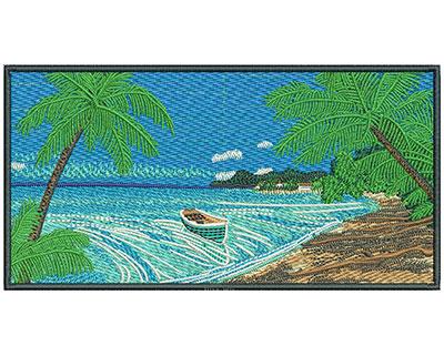 Embroidery Design: Beach Scene Sm 6.04w X 3.13h