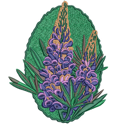 Embroidery Design: Lupin Flower Lg 4.88w X 6.05h