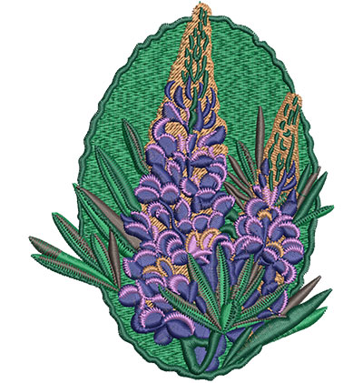 Embroidery Design: Lupin Flower Med 4.07w X 5.05h
