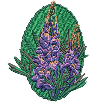 Embroidery Design: Lupin Flower Sm 3.26w X 4.05h