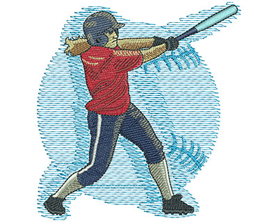 Embroidery Design: Fastpitch Swing Lg 3.97w X 4.24h