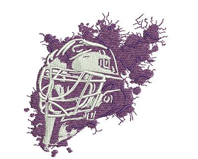 Embroidery Design: Splatter Goalie Mask Med 3.23w X 3.26h