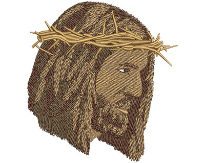 Embroidery Design: Jesus Crown Of Thorns Lg 4.08w X 4.45h