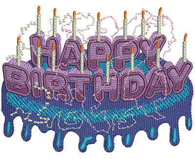Embroidery Design: Happy Birthday Type Lg 3.99w X 3.05h