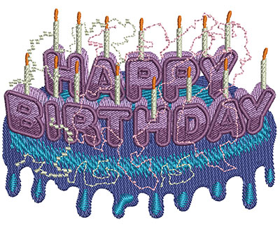Embroidery Design: Happy Birthday Type Med 3.49w X 2.67h