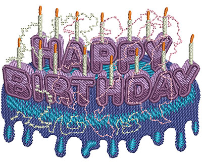 Embroidery Design: Happy Birthday Type Sm 2.99w X 2.29h