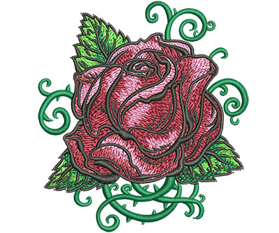 Embroidery Design: Tattoo Rose Sm 3.65w X 4.02h