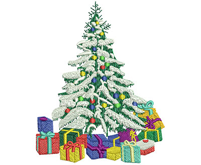 Embroidery Design: Christmas Forest Lg 3.61w X 4.51h