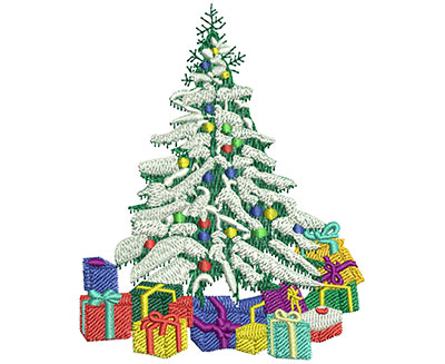 Embroidery Design: Christmas Forest Med 3.21w X 4.01h