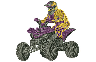 Embroidery Design: 4 Wheeler Med 3.47w X 3.34h
