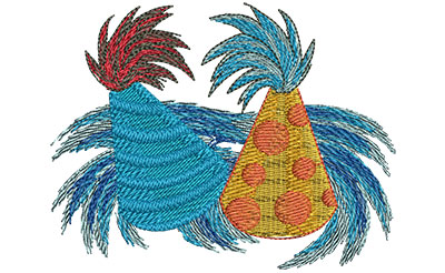 Embroidery Design: Party Hats Lg 3.99w X 3.08h