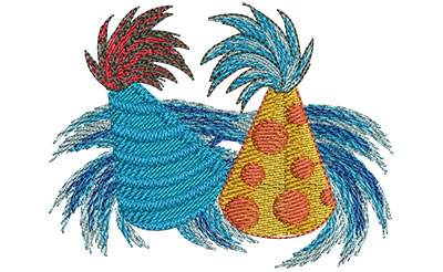 Embroidery Design: Party Hats Med 3.52w X 2.70h
