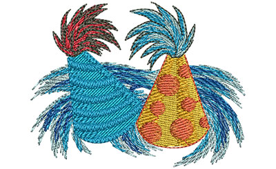 Embroidery Design: Party Hats Sm 3.01w X 2.32h