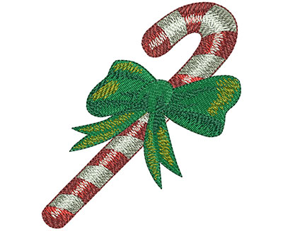 Embroidery Design: Candy Cane Lg 3.05w X 3.47h