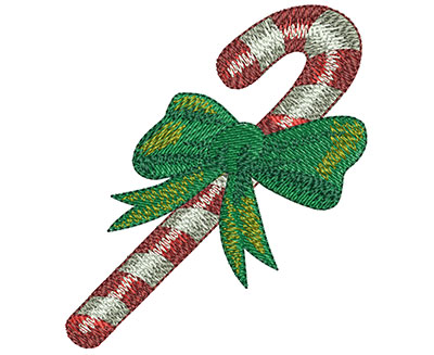 Embroidery Design: Candy Cane Med 2.61w X 2.97h
