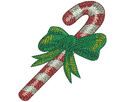 Embroidery Design: Candy Cane Sm 2.17w X 2.47h