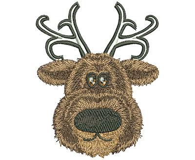 Embroidery Design: Reindeer Head Lg 2.74w X 3.47h