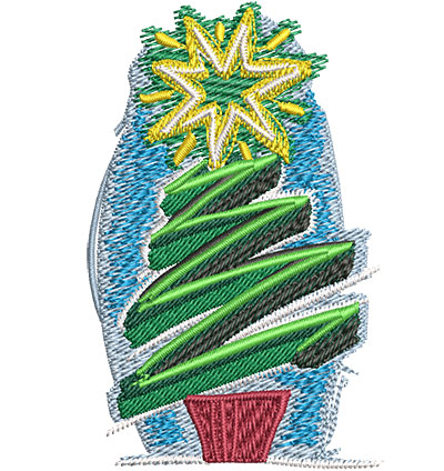 Embroidery Design: Artistic Christmas Tree Sm 2.20w X 3.48h