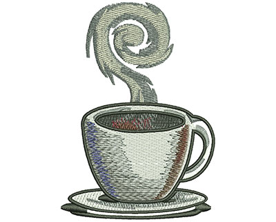 Embroidery Design: Coffee Cup Lg 2.82w X 3.97h