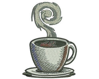 Embroidery Design: Coffee Cup Med 2.47w X 3.48h