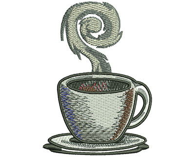 Embroidery Design: Coffee Cup Sm 2.12w X 2.97h