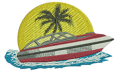 Embroidery Design: Boat Med 4.02w X 2.5h